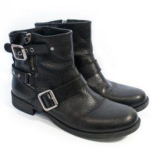 Nine West | Vatieler Black Moto Ankle Boots | 9